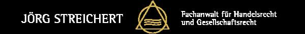 Gesellschafterstreit vermeiden | Wirtschaftsanwalt Jörg Streichert | Fachanwalt für Handelsrecht und Gesellschaftsrecht Logo