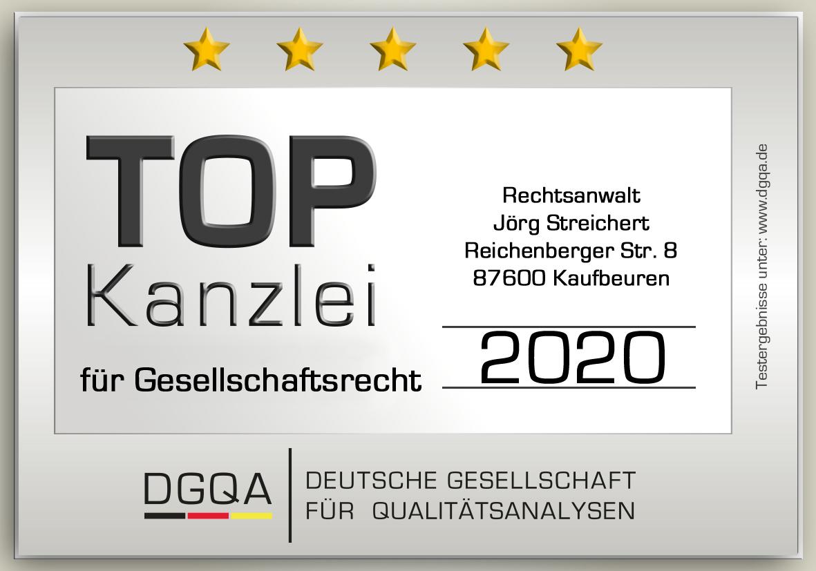 TOP Kanzlei für Gesellschaftsrecht